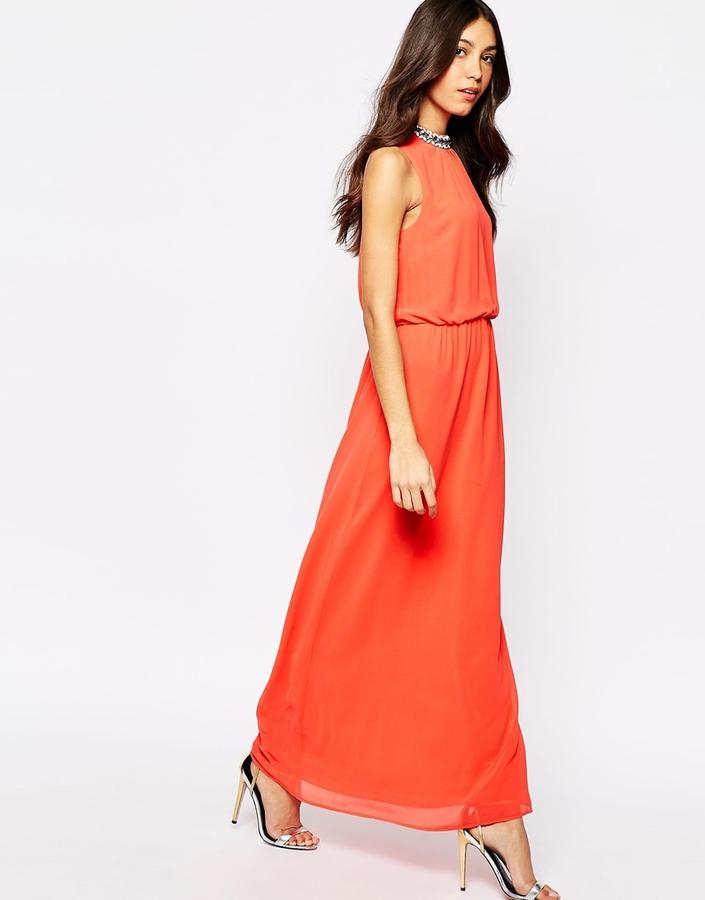 Comprar vestido largo naranja