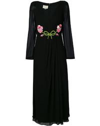 Vestido Largo Negro de Gucci