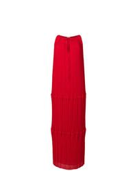 Vestido largo plisado rojo de P.A.R.O.S.H.