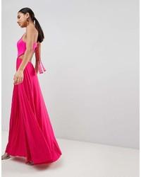 Vestido largo rosa de Asos