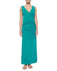 Vestido largo verde azulado original 2782095
