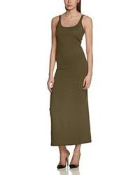 Vestido largo verde oliva de Vero Moda