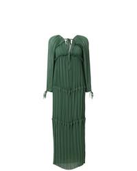 Vestido largo verde oscuro de P.A.R.O.S.H.