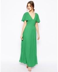 Vestido largo verde de Asos
