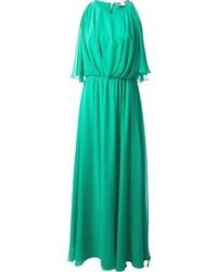 Vestido largo verde de MSGM