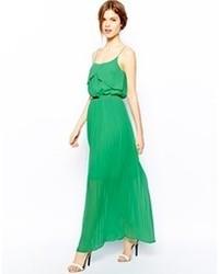Vestido largo verde de Oasis