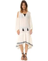 Vestido midi blanco de Lemlem