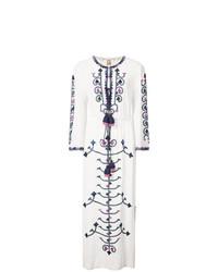 Vestido midi bordado blanco de Figue