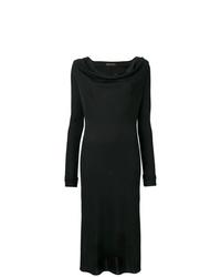 Vestido midi con recorte negro de Versace