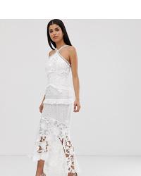 Vestido midi de encaje blanco de True Decadence Tall