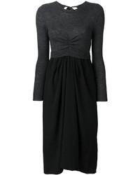 Vestido midi de lana negro de Etoile Isabel Marant