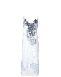 Vestido Midi de Lentejuelas Plateado de Derek Lam