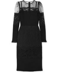 Vestido midi de tul negro de Dolce & Gabbana