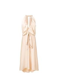 Vestido midi en beige de Chloé