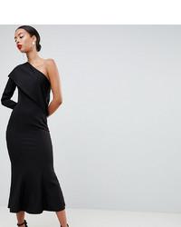 Vestido midi negro de Asos Tall