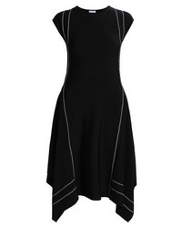 Vestido Midi Negro de Escada