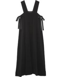 Vestido midi negro de Helmut Lang