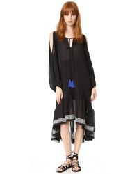 Vestido midi negro de Lemlem