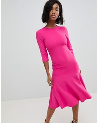 Vestido midi rosa de Club L