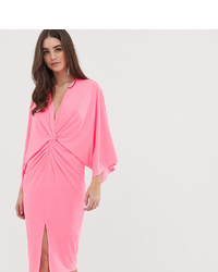 Vestido midi rosado de Flounce London Tall