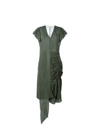 Vestido midi verde oliva de Marni