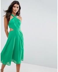 Vestido midi verde de Asos