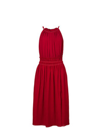 Vestido playero de lino rojo de Altuzarra