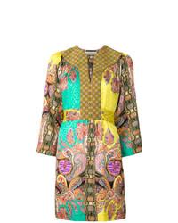 Vestido playero de paisley en multicolor de Etro
