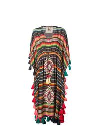 Vestido playero de rayas horizontales en multicolor de Figue