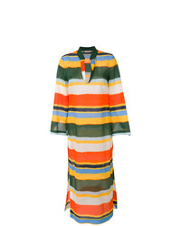 Vestido playero de rayas horizontales en multicolor de Tory Burch