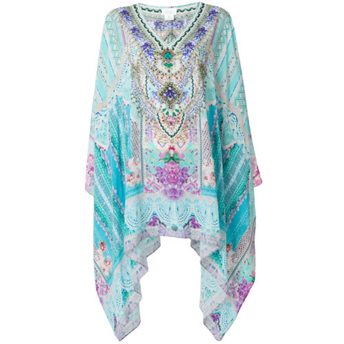 Vestido playero estampado celeste de Camilla