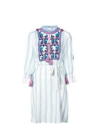 Vestido playero estampado celeste de Figue