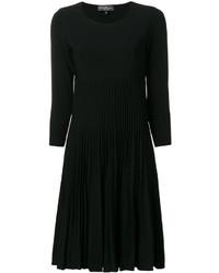 Vestido plisado negro de Salvatore Ferragamo