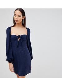 Vestido recto azul marino de Fashion Union Tall