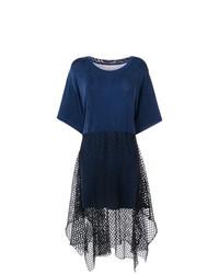 Vestido recto azul marino de MM6 MAISON MARGIELA