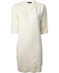 Vestido recto blanco de Calvin Klein