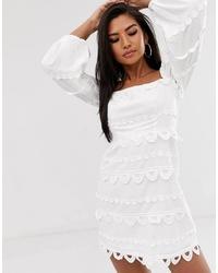 Vestido recto blanco de Talulah