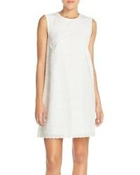 Vestido recto bordado blanco
