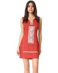 a008aea33 Comprar un vestido recto bordado naranja  elegir vestidos rectos ...