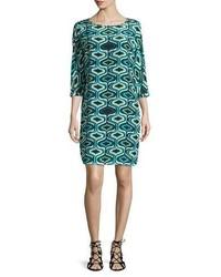 Vestido recto con estampado geometrico original 10090883