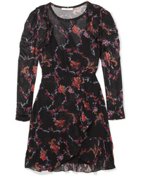 Vestido recto con print de flores negro de IRO