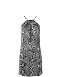 Vestido recto con print de serpiente gris de Gucci Vintage