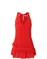 Vestido recto con volante rojo de IRO
