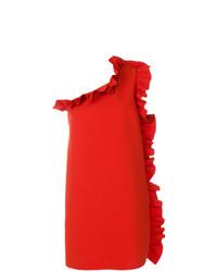 Vestido recto con volante rojo de MSGM