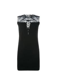 Vestido recto de crochet negro de Marcelo Burlon County of Milan