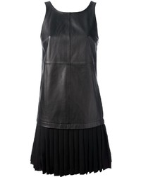 Vestido recto de cuero negro de Elizabeth and James