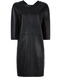 Vestido recto de cuero negro de Maison Margiela