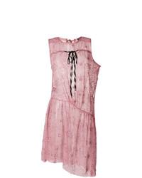 Vestido recto de encaje rosado de Ann Demeulemeester