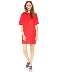 Vestido recto de lana rojo de MSGM