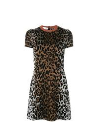 Vestido recto de leopardo marrón de Stella McCartney